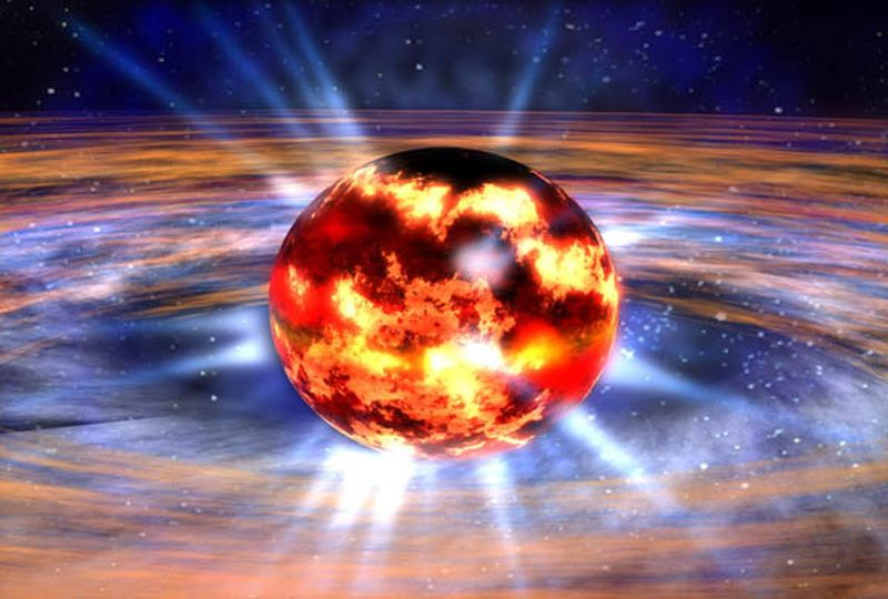 Neutron star dies